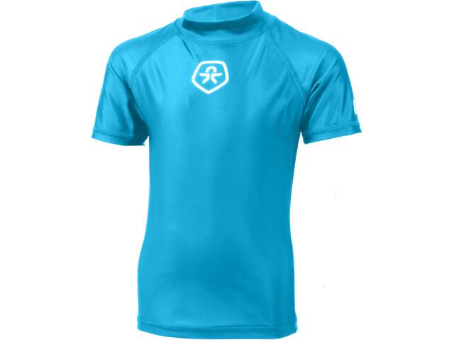 Color Kids Timon UPF Camisa Manga Corta Niños, atomic blue